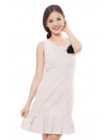 Tweed Frill Bottom Dress