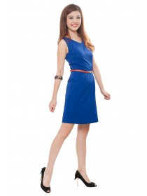 Classic Royal Blue Diamante Dress