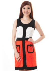 Vionnet Modern Color Block Dress