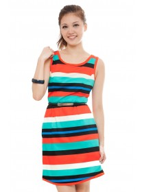 Colored Striped Shift Dress