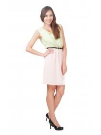 Summer Neon Color Block Dress