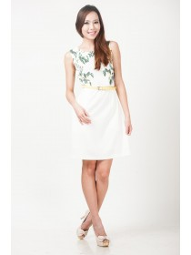 Floral Prints Sheath Dress