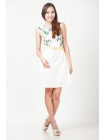 Floral Prints Sheath Dress