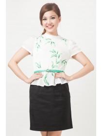 Etoile Floral Prints Peplum Dress