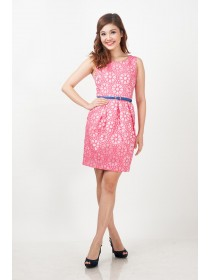 Matilda Floral Eyelet A-line Dress