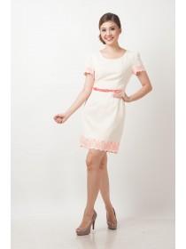 Eva Floral Hems Sleeved Dress