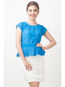 Alicia Silk Chiffon Crepe Peplum Dress