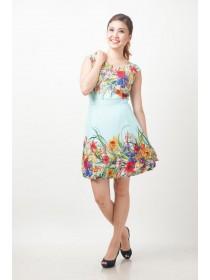Vibrant Floral Prints Dress
