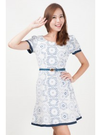 Colette Floral Prints Sleeved Dress