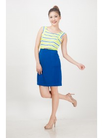 Preen Striped Top Belted Dress