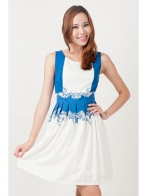 Macy Printed A Line Dress