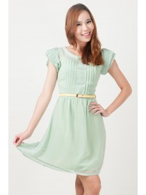 Everly Chiffon Fit and Flare Dress