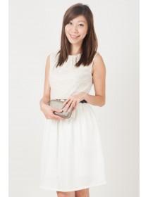 Angeli Gold Crochet Top Dress