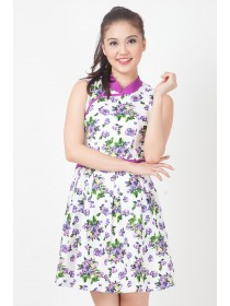 Blooms Flare Cheongsam Dress