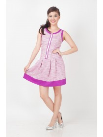 Fuschia Shimmers Flare Dress