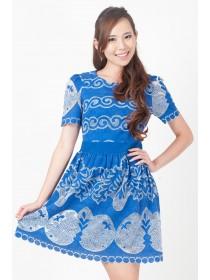 Colette Mesh Floral Prints Dress