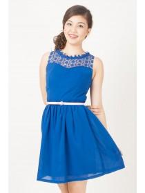 Floral Crochet Mesh Top Dress