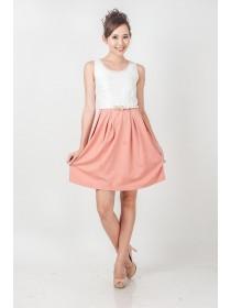 Pearls Embellished Crochet Blend Dress