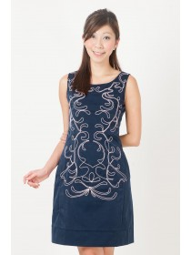 Twill Printed Sheath Dress