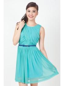 Vionnet Draped Chiffon Dress