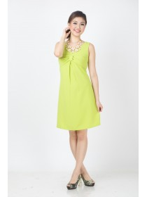Pretty Bow Lime Summer Dress