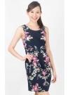 Floral Prints Panelled Shift Dress