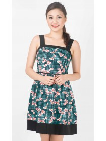 Cherry Blossoms Printed Weekend Dress