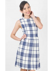 Plaids Wool Blend Dress