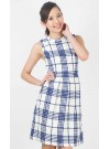 Plaids Wool Blend Dress