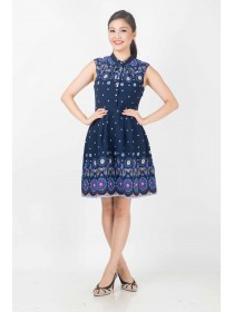 Daisy Motifs Printed Dress