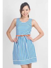 Nautical Stripes A Line Dress