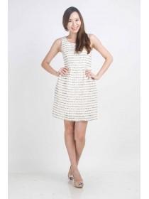 Statement Tweed A Line Dress