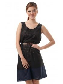 Camilla Mesh Cutout Dress