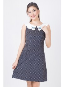 Embroidered Sparrows Peter Pan Collar Dress