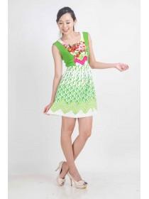 Florals & Graphics Flare Dress