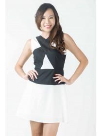 Tina Monochrome Midi Dress