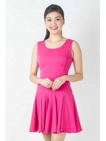 Splendid Fuschia Flouncy Dress