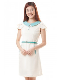 Color Block Tulip Sleeved Dress