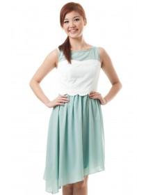 Polka Dots Asymmetrical Hem Dress