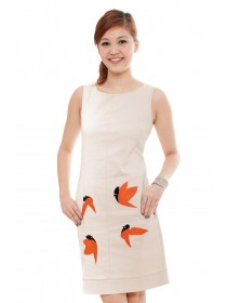 Contemporary Sparrow Prints Dress