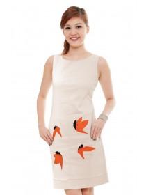 Contemporary Sparrow Prints Dress