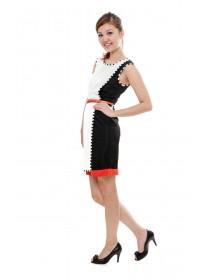 Lilibelle Grid Trimmings Dress