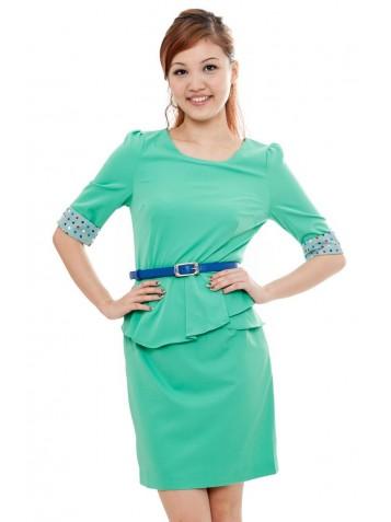 http://www.divalavie.com/92-581-thickbox/polka-dots-sleeved-peplum-dress-green.jpg